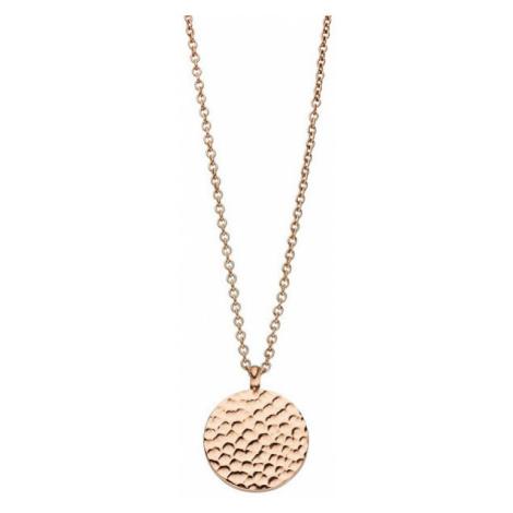 Tamaris Růžově zlacený náhrdelník Vicky s kulatým přívěskem TJ095