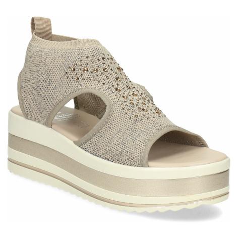 Béžové sandály na flatformě Baťa