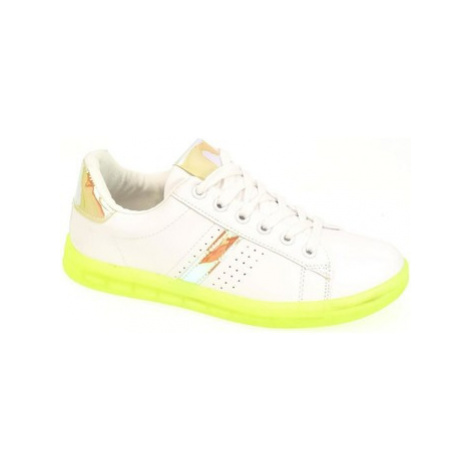 John-C Dámske bielo-zelené tenisky NEON Bílá