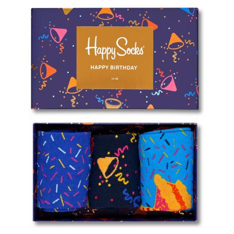 Dárkový box Happy Socks Happy Birthday - 3 páry