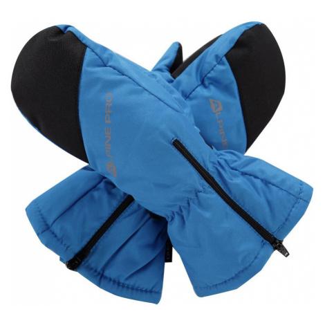 ALPINE PRO HANGO Dětské zimní rukavice KGLM009674 Blue aster