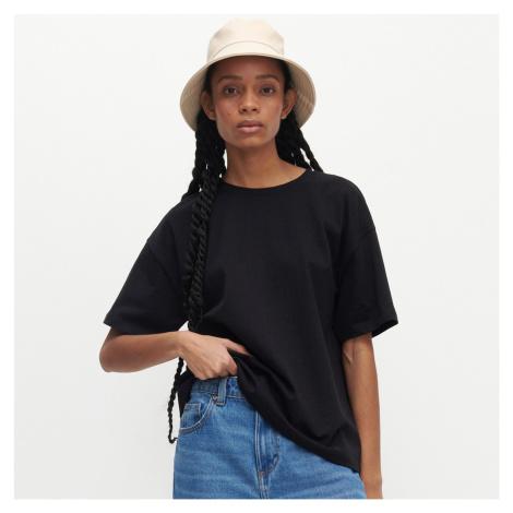Reserved - Tričko oversized s vysokým podílem organické bavlny - Černý