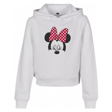 Kids Minnie Mouse Bow Cropped Hoody Urban Classics