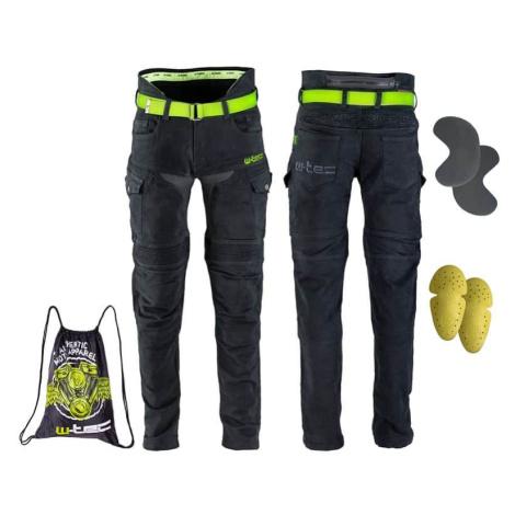 Pánské moto jeansy W-TEC Aredator Barva černá