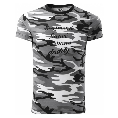 Partnerské triko nastávající rodiče - Army CAMOUFLAGE