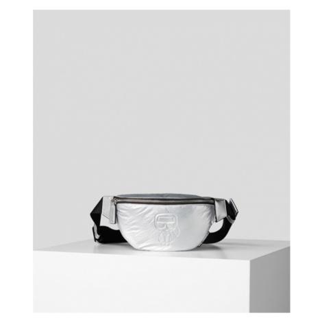 Ledvinka Karl Lagerfeld K/Ikonik Nylon Bumbag Metallic