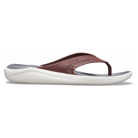 Crocs LiteRide Flip Burgundy/White