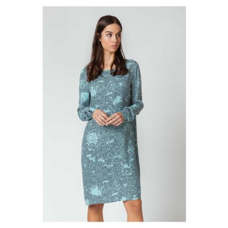 SKFK modré vzorované šaty