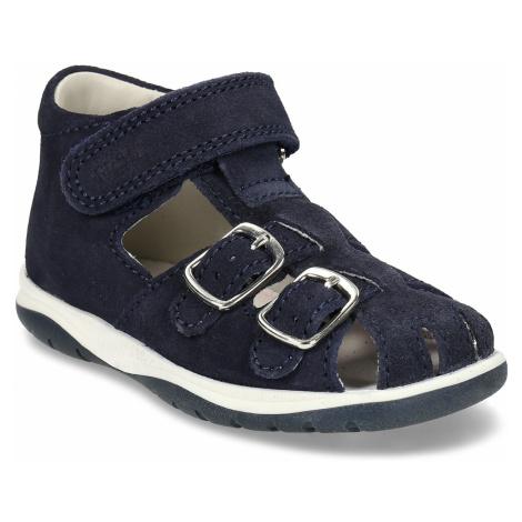 Modré kožené chlapecké sandály Richter