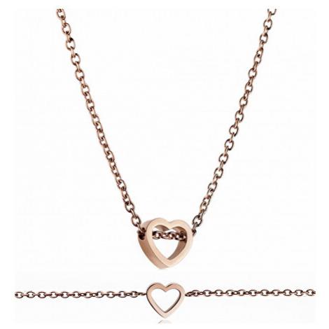 Emily Westwood Romantický set náhrdelníku a náramku se srdcem WS003R