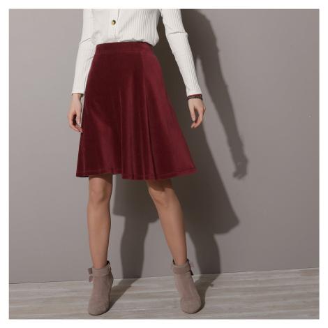 Blancheporte Krátká manšestrová sukně do A vínová