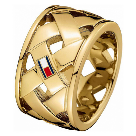Tommy Hilfiger Ocelový proplétaný prsten TH2701024
