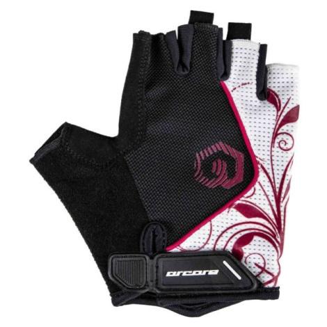 Arcore JADE bílá - Krátkoprsté cyklistické rukavice