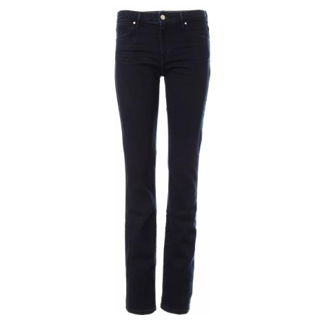 Wrangler jeans Straight Blue Black dámské tmavě modré