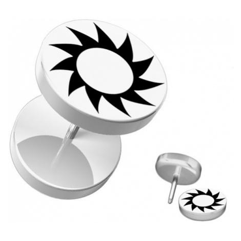 Fake piercing do ucha z akrylu - černé ozubené kolečko Šperky eshop