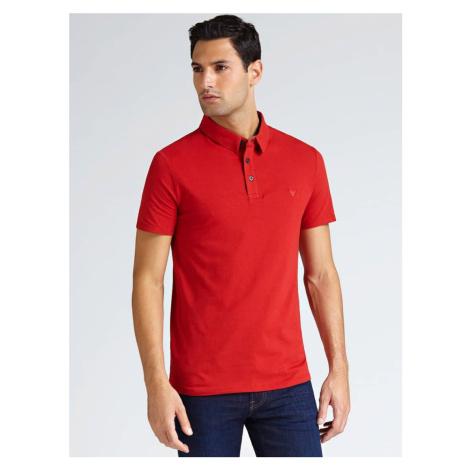 Guess GUESS pánské červené polo tričko