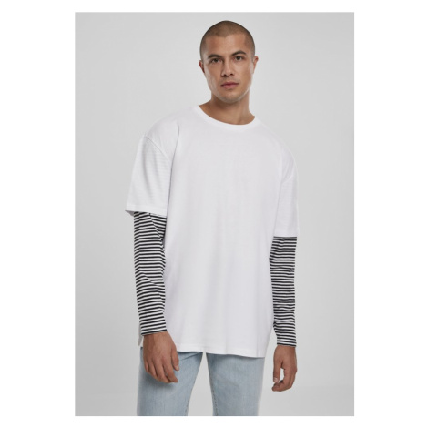 Oversized Double Layer Striped LS Tee - white Urban Classics