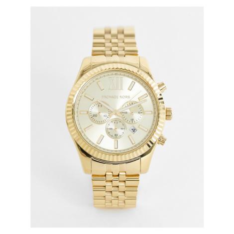 Michael Kors MK8281 Lexington gold chronograph watch