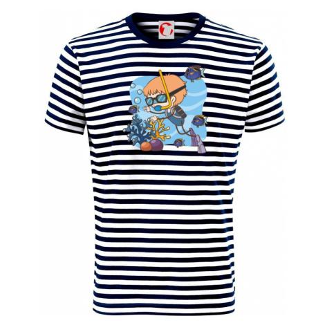 Potápka kluk - Unisex triko na vodu