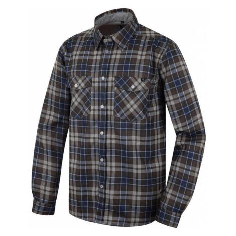 Pánská košile Hannah Bendon brown cuber