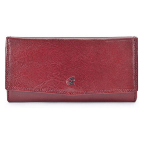 Peněženka dámská kožená COSSET tmavě červená 4466 Komodo B