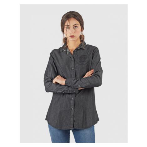 Košile La Martina Woman Shirt Black Denim - Černá