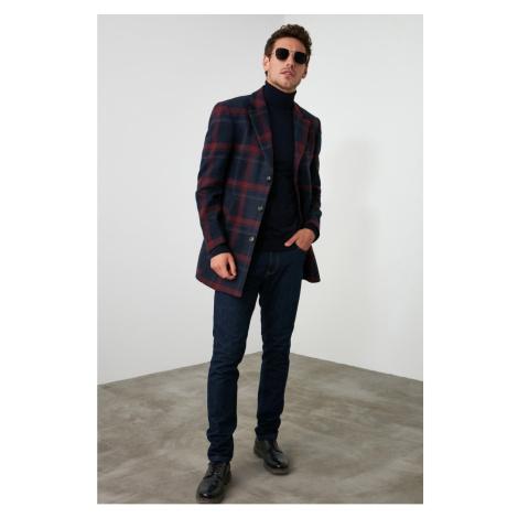 Men's coat Trendyol Checkered