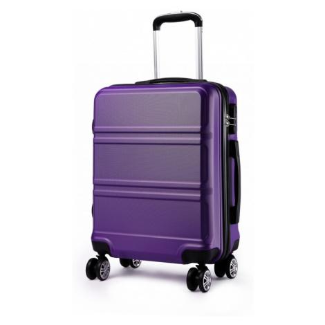 Fialový cestovní střední kufr se zámkem a otočnými kolečky Perfei Lulu Bags