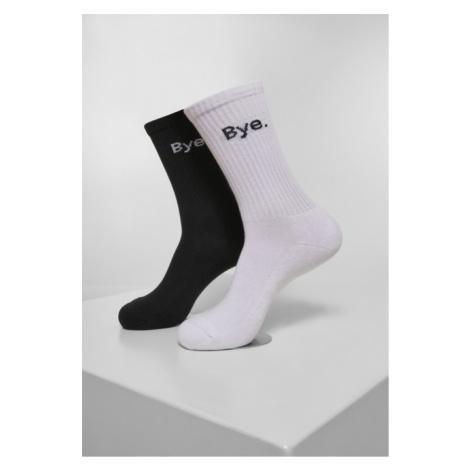 Mr. Tee HI - Bye Socks short 2-Pack black/white