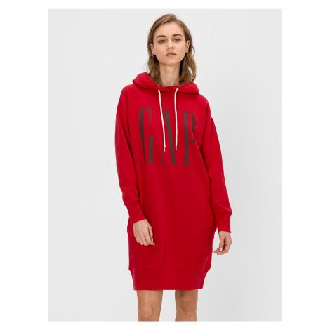 GAP červené mikinové šaty