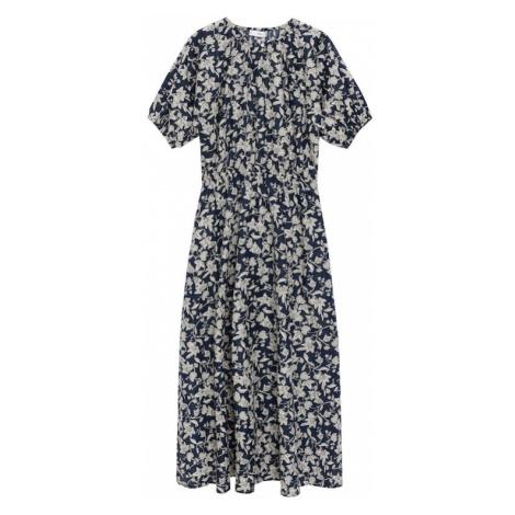 MANGO Letní šaty 'CALABASA' námořnická modř / bílá