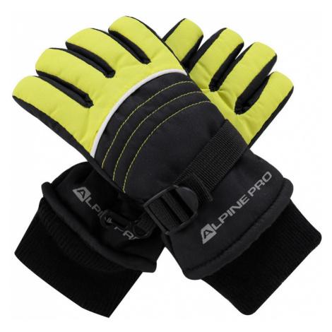 ALPINE PRO KORIO Dětské rukavice KGLM010564 Sulphur spring