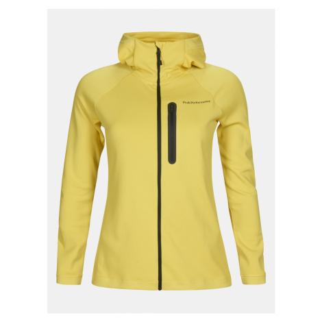 Mikina Peak Performance W Power Zip Hood - Žlutá