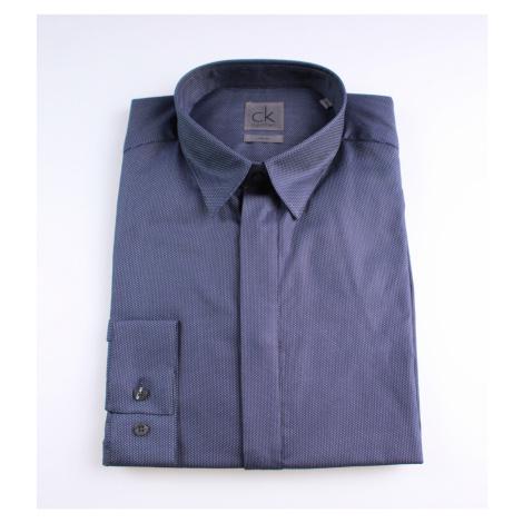 Calvin Klein Calvin Klein pánská tmavě modrá košile s bílými mini puntíky