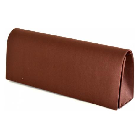 Klasická společenská kabelka (psaníčko) hladká s řetízkem tmavě hnědá, 26 x 6 x 10 (IT15-SL355-0