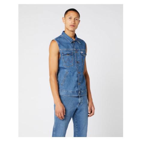 Džínová vesta Wrangler Bora Blue pánská modrá