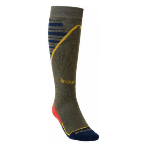 Pánské ponožky Bridgedale Ski Midweight+ olive/navy/745