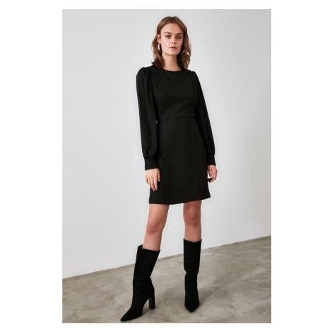 Trendyol Black RibBed Dress