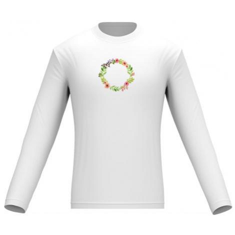 Pánské tričko dlouhý rukáv Květinový rámeček