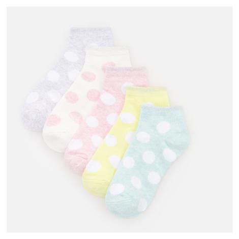 Reserved - Sada 5 párů ponožek s vysokým podílem organické bavlny - Růžová