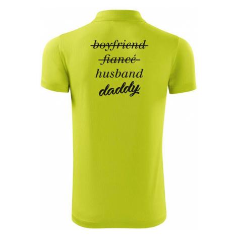 Partnerské triko nastávající rodiče - Polokošile Victory sportovní (dresovina)