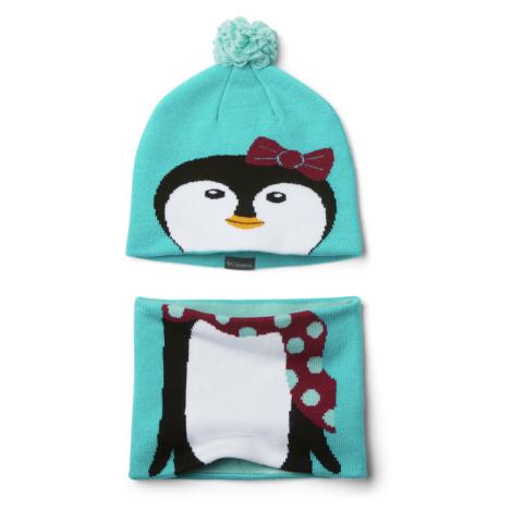 Čepice Columbia Youth Snow More™ Hat and Gaiter Set - světle modrá/zelená