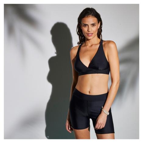 Blancheporte Plavková podprsenka se sportovními zády Solaro, jednobarevná černá, koš. D