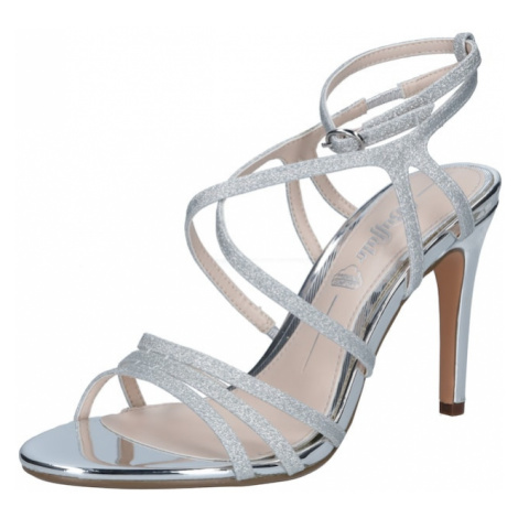 BUFFALO Páskové sandály 'RAVYN' stříbrná