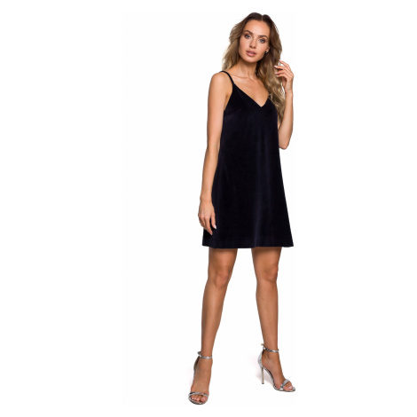 Made Of Emotion Woman's Dress M560 Navy Blue