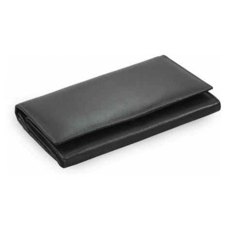 Černá dámská psaníčková kožená peněženka Elizbeth Arwel