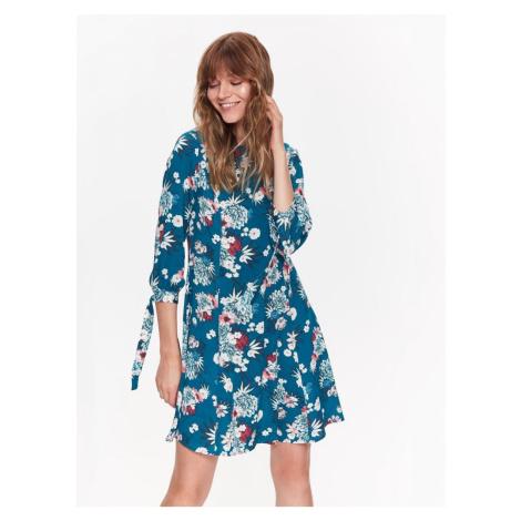 Top Secret šaty dámské květované s 3/4 zavazovacím rukávem