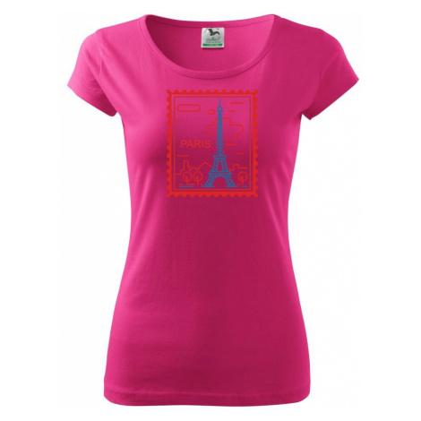 Paříž známka jednoduchá - Pure dámské triko