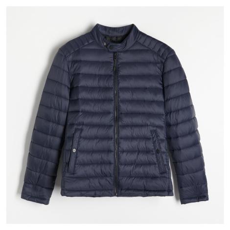 Reserved - Prošívaná bunda se stojáčkem - Tmavomodrá