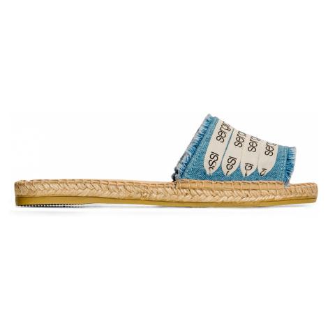 Pantofle SERGIO ROSSI x MANEBI modrá
